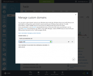 Azure manage custom domains